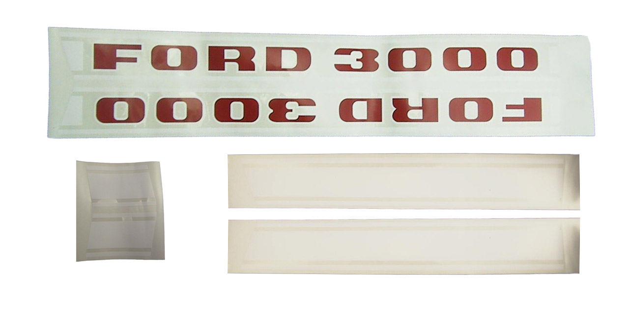 Ford 3000 Tractor Decals : Ford tractor decal set