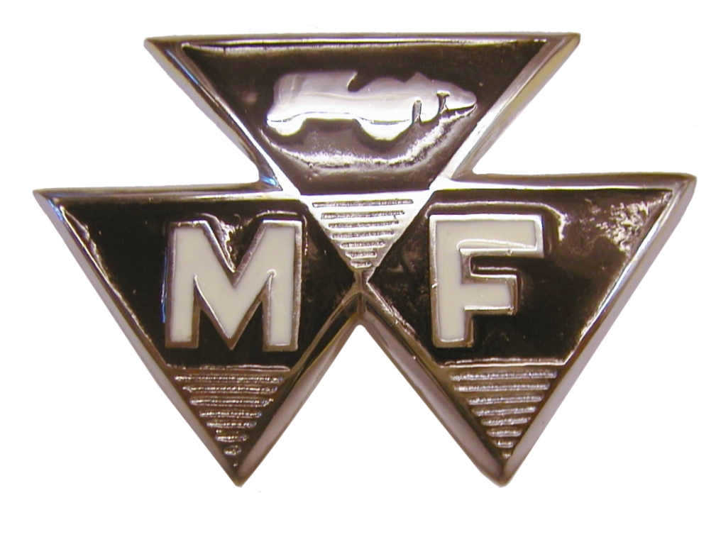 Massey Ferguson Tractor 35 Coloured Front Badge 58mm Centers