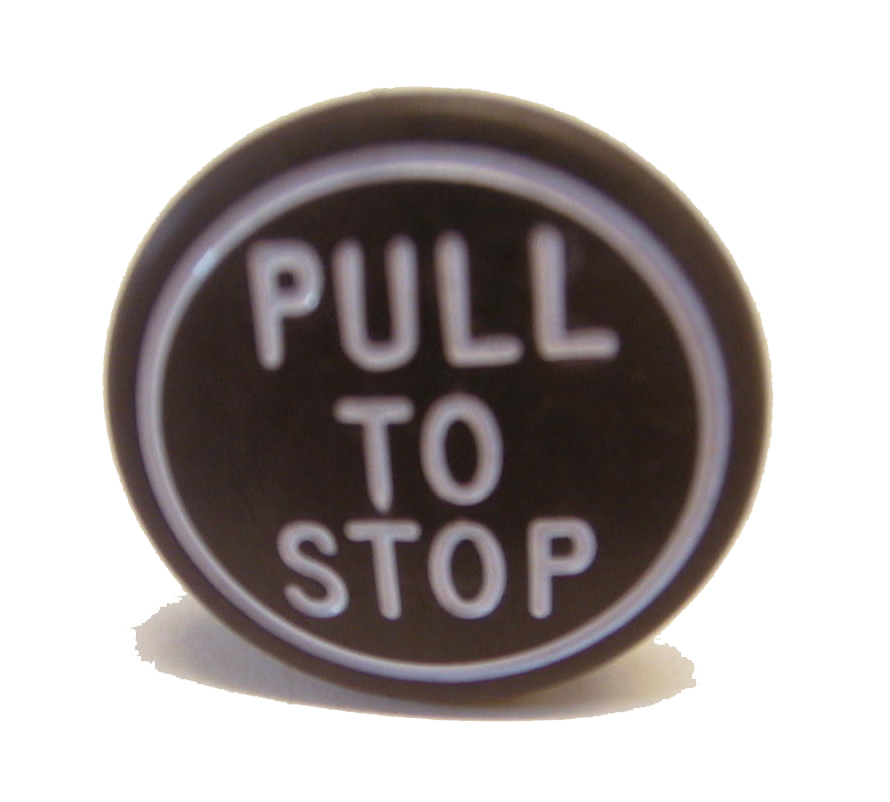 Tractor Control Knobs : Tractor stop control knob in black