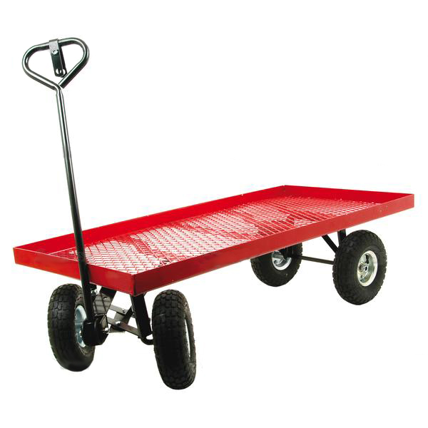 gardeners 4 wheel trolley work trolley cart trailer